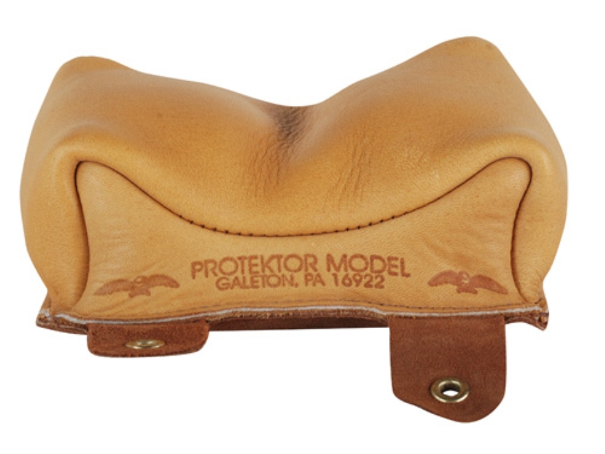 Protektor Large Owl Rifle Front Shooting Rest Bag Leather Tan Filled