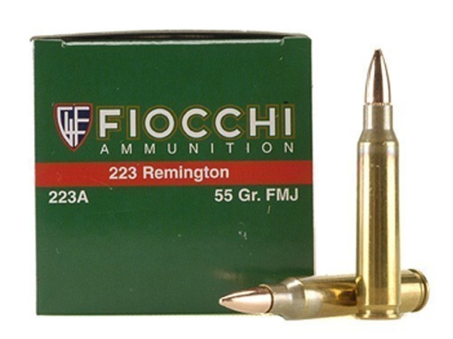 Fiocchi Shooting Dynamics Ammunition 223 Remington 55 Grain Full Metal Jacket