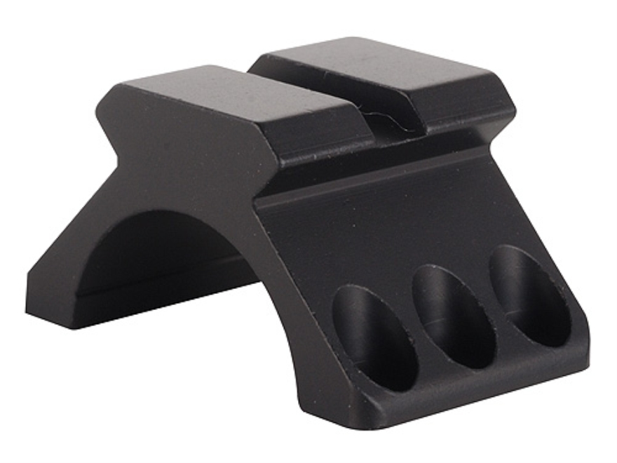 "Weaver 1"" Tactical 6-Hole Ring Top with Picatinny-Style Accessory Rail Matte"