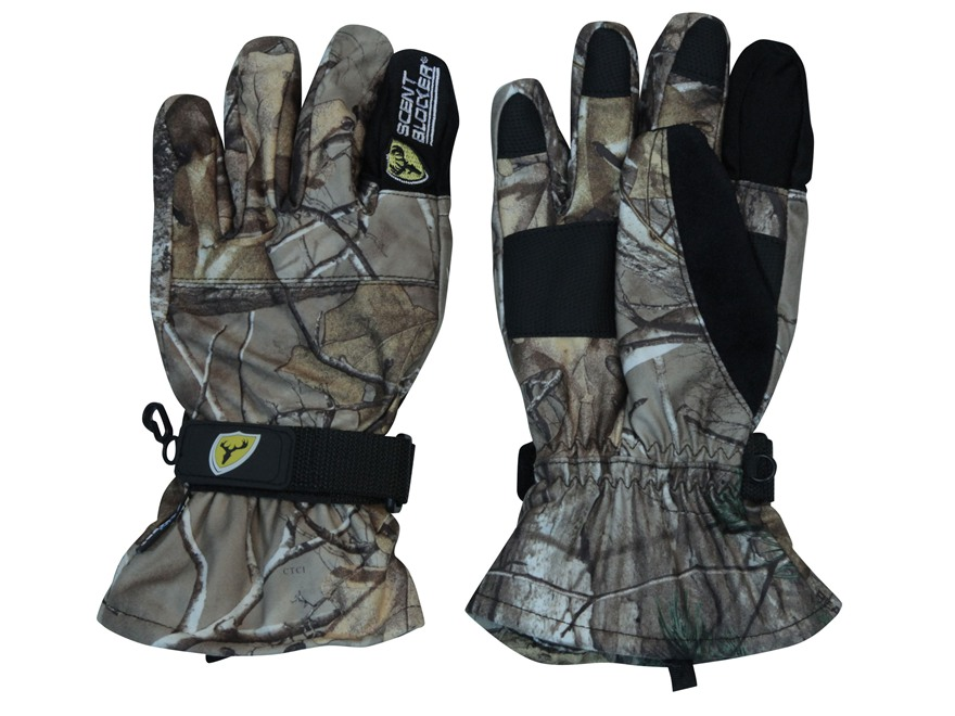 ScentBlocker Outfitter Waterproof Gloves Polyester Realtree Xtra Camo Medium/Large