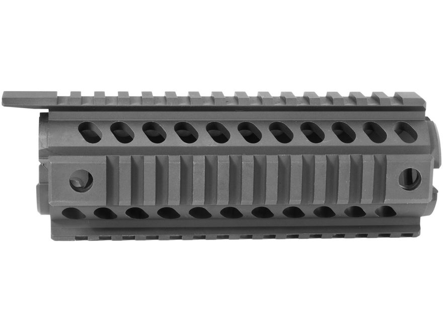 Mission First Tactical Tekko 2-Piece Quad Rail Handguard AR-15 Carbine Length Aluminum Black