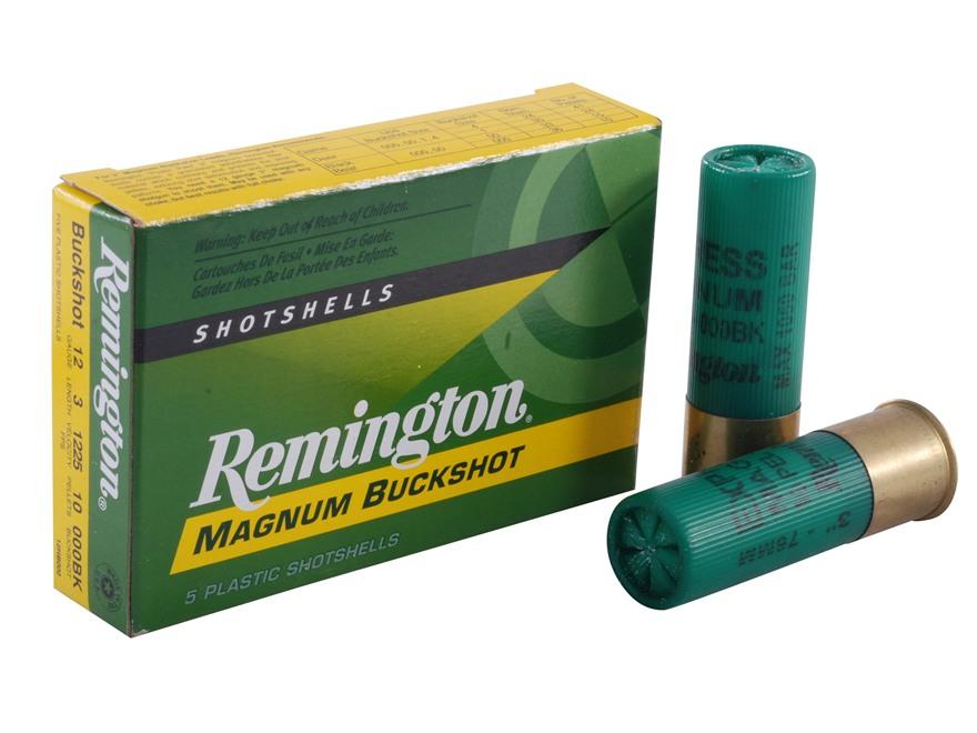 "Remington Express Ammunition 12 Gauge 3"" 000 Buckshot 10 Pellets Box of 5"