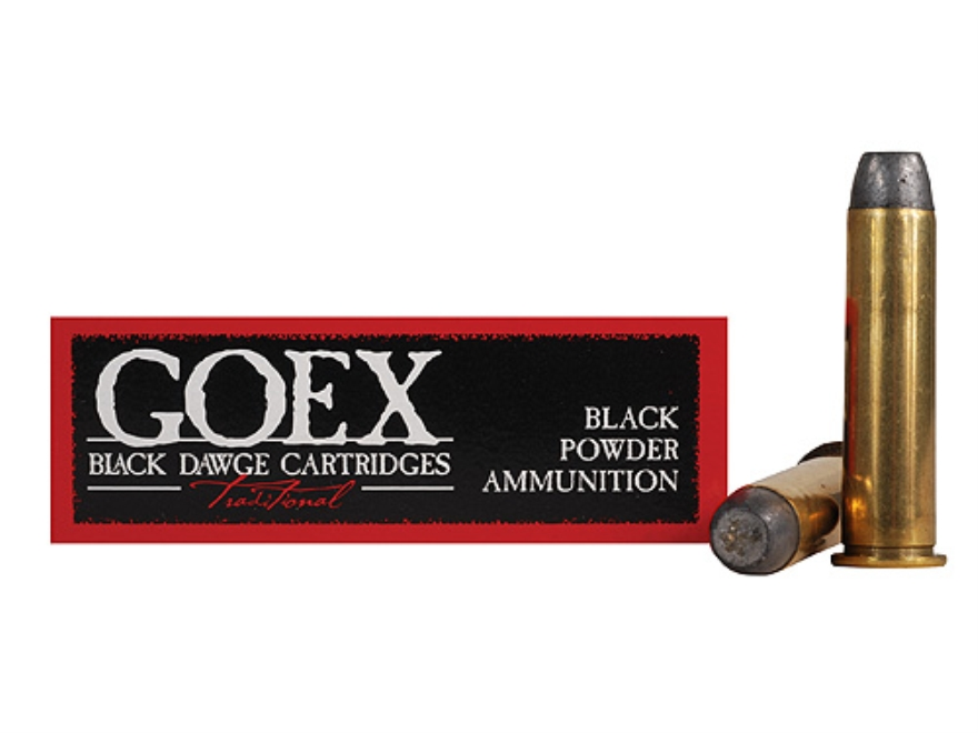Goex Black Dawge Black Powder Ammunition 45-60 WCF 350 Grain Lead Round Nose Flat Point Box of 20