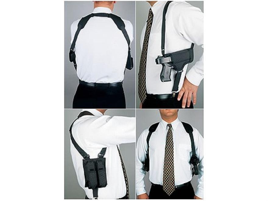DeSantis Patriot Shoulder Holster System Ambidextrous Glock 17, 20, 21, 22, S&W M&P, 5904, 5906, 5944, 5946 Nylon Black