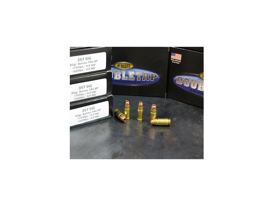 Doubletap Ammunition 357 Sig 80 Grain Barnes TAC-XP Lead-Free Box of 20