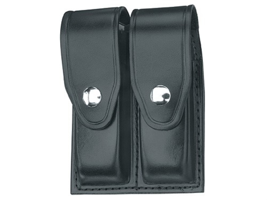 Gould & Goodrich B627 Double Magazine Pouch 1911 Government, Commander, Officer, Beretta 92 Compact Leather Black