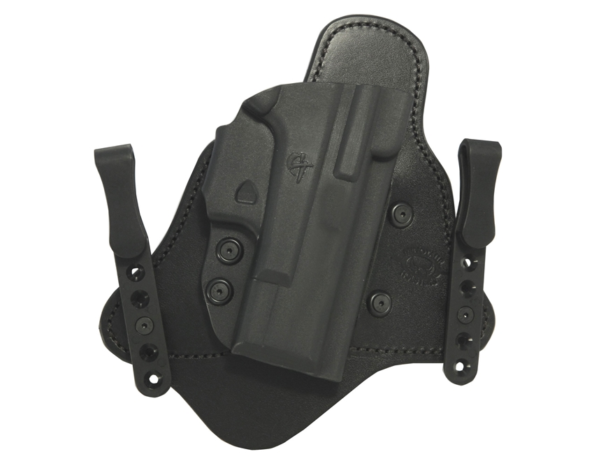 Comp-Tac Minotaur MTAC Inside the Waistband Holster Right Hand Kahr CW9, CW40, P9, P40, PM9. PM40 Slide Kydex and Leather Black