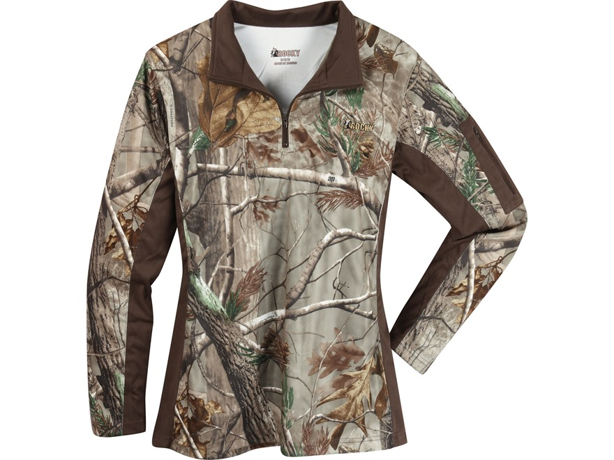 Rocky Women's SilentHunter 1/4 Zip Shirt Long Sleeve Poyester