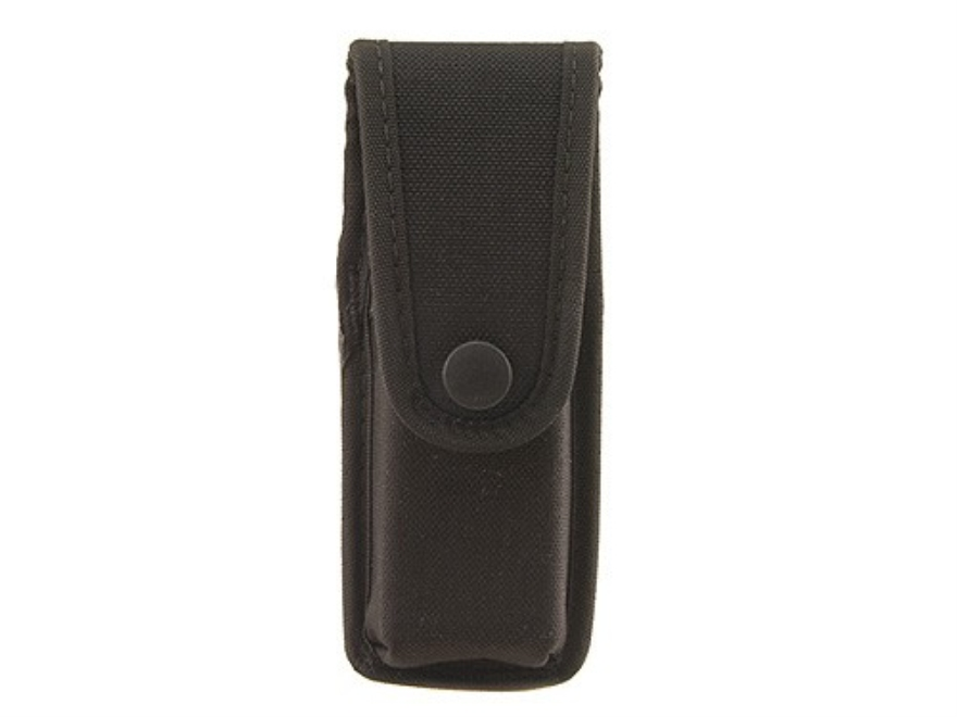 Uncle Mike's Single Magazine Pouch Double Stack Magazine Snap Closure Molded Insert Nylon Black