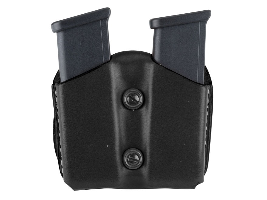 DeSantis Double Magazine Pouch 45 ACP, 10mm Single Stack Magazines Leather