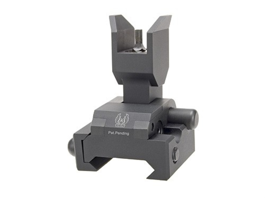 GG&G Spring-Actuated Flip-Up Front Sight Gas Block Height AR-15, LR-308 Aluminum Matte