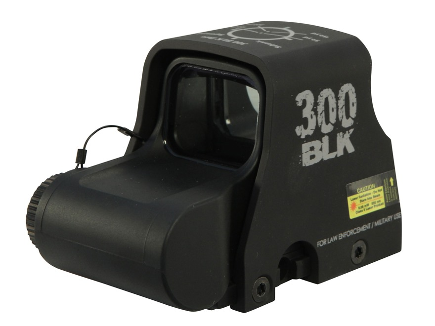 EOTech XPS2-300 Blackout/Whisper Holographic Weapon Sight 65 MOA Circle with (2) 1 MOA Dots Matte CR123 Battery