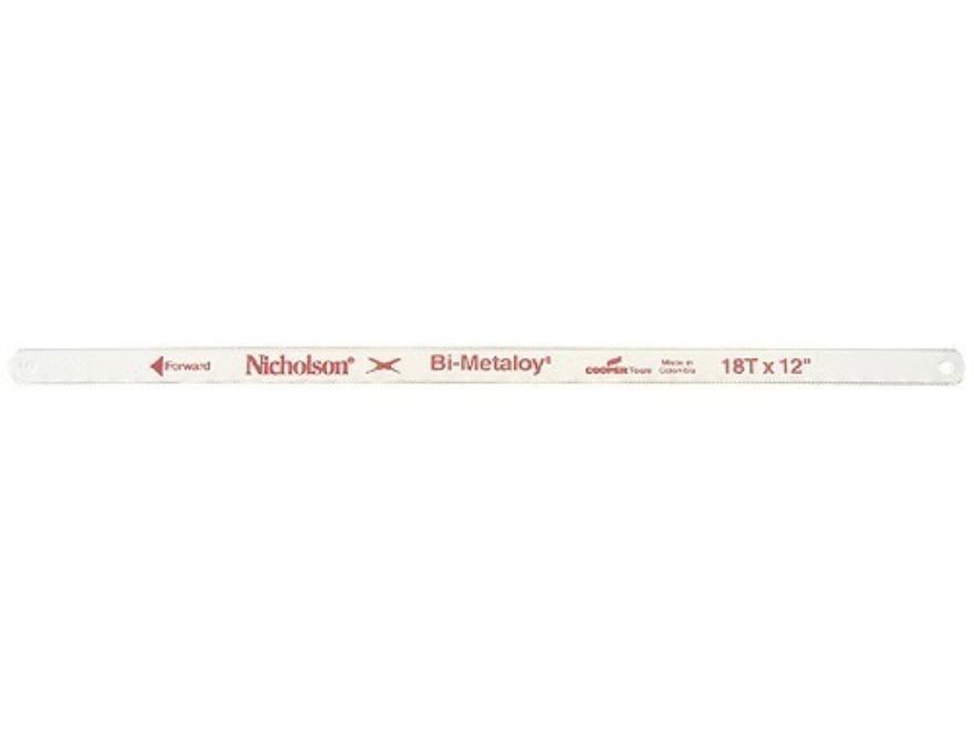 "Nicholson Bi-Metaloy Hand Hacksaw Blades 18 Teeth per Inch 12"" Package of 2"
