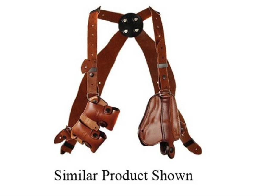 "Bianchi X16 Agent X Shoulder Holster System Colt Detective Special, S&W J-Frame 2"" Barrel Leather Tan"