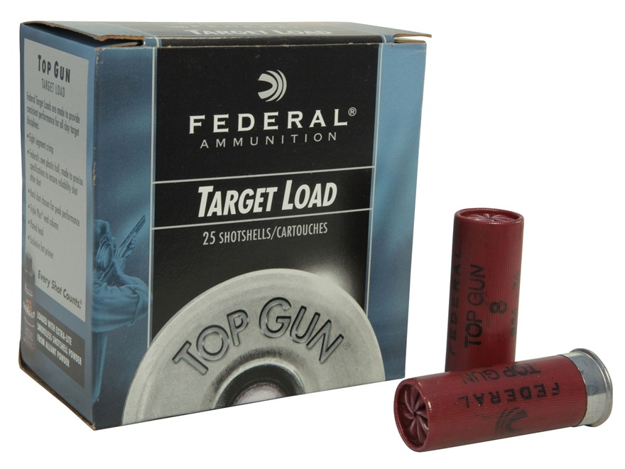 "Federal Top Gun Extra Lite Ammunition 12 Gauge 2-3/4"" 7/8 oz #8 Shot"