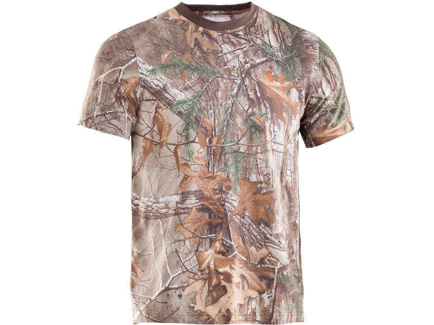 Under Armour Men's HeatGear Charged Cotton T-Shirt Short Sleeve Cotton Realtree Xtra Camo XL 46-48