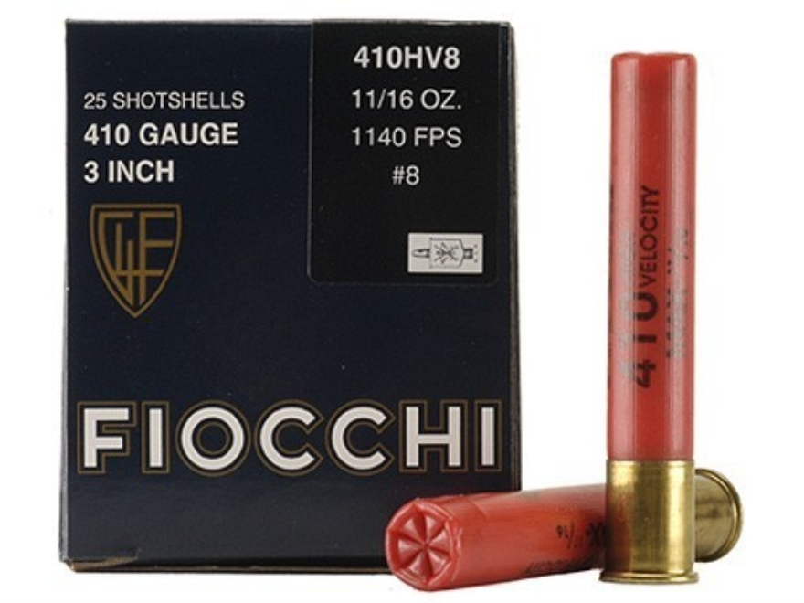 "Fiocchi High Velocity Ammunition 410 Bore 3"" 11/16 oz #8 Shot Box of 25"