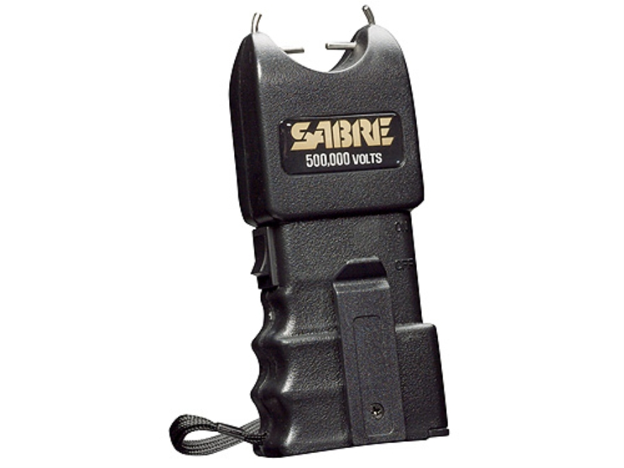 Sabre 500,000 Volt Stun Gun uses Two 9 Volt Batteries (Not Included) Polymer Black