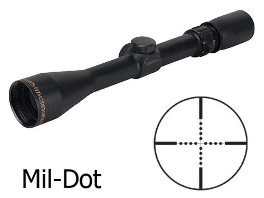 Sightron SI Rifle Scope 3-9x 40mm Mil-Dot Reticle Matte