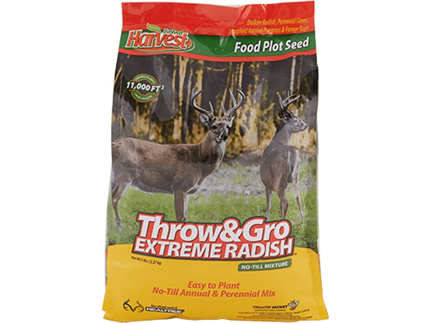 Evolved Harvest Bone Collector Throw and Gro Radish X-Treme Food Plot Seed 5 lb
