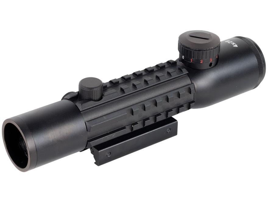 Barska Electro Sight Red Dot Sight 4x 28mm Red and Green Illuminated Mil-Dot Reticle Matte