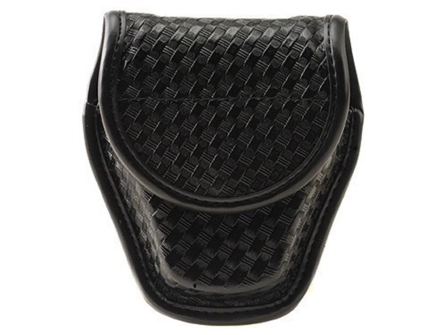 Bianchi 7917 AccuMold Elite Double Cuff Case Hidden Snap Basketweave Nylon Black