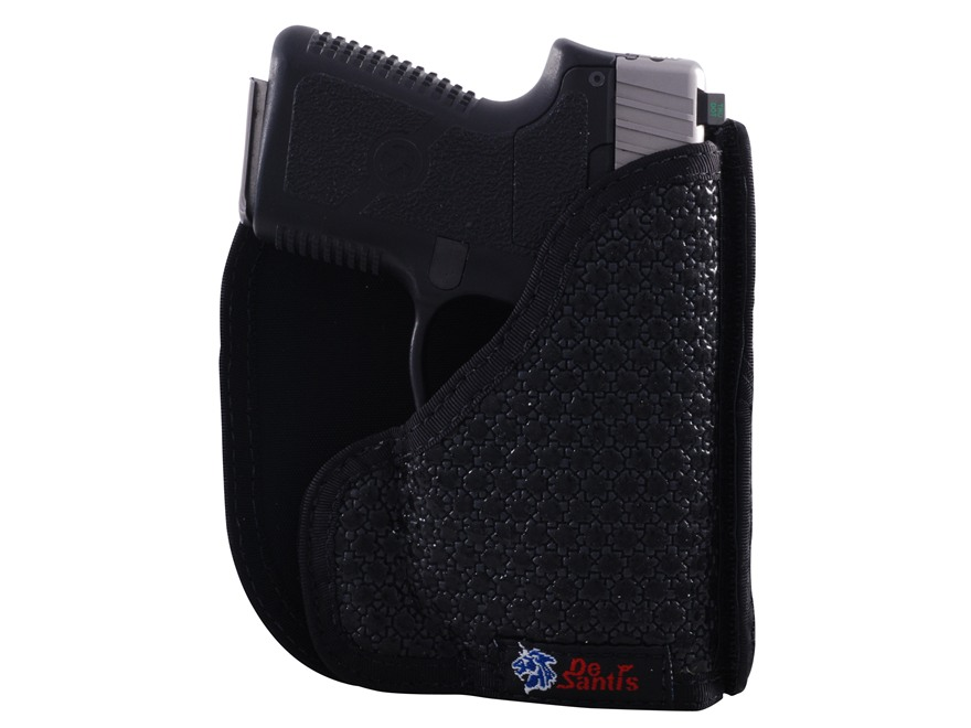 DeSantis Super Fly Pocket Holster Ambidextrous Kel-Tec P3AT, Ruger LCP with Crimson Trace Lasergrips Nylon Black