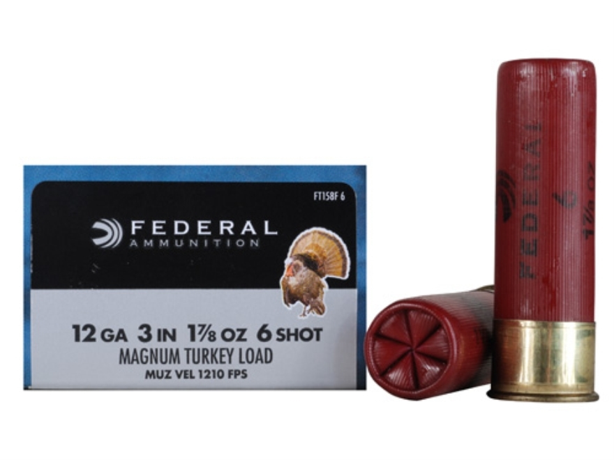 "Federal Strut-Shok Turkey Ammunition 12 Gauge 3"" 1-7/8 oz Buffered #6 Shot Box of 10"