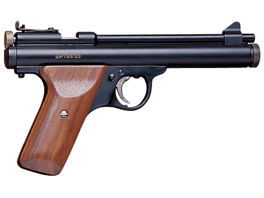 Benjamin Bolt Action CO2 Air Pistol 22 Caliber Pellet Black with Wood Grips