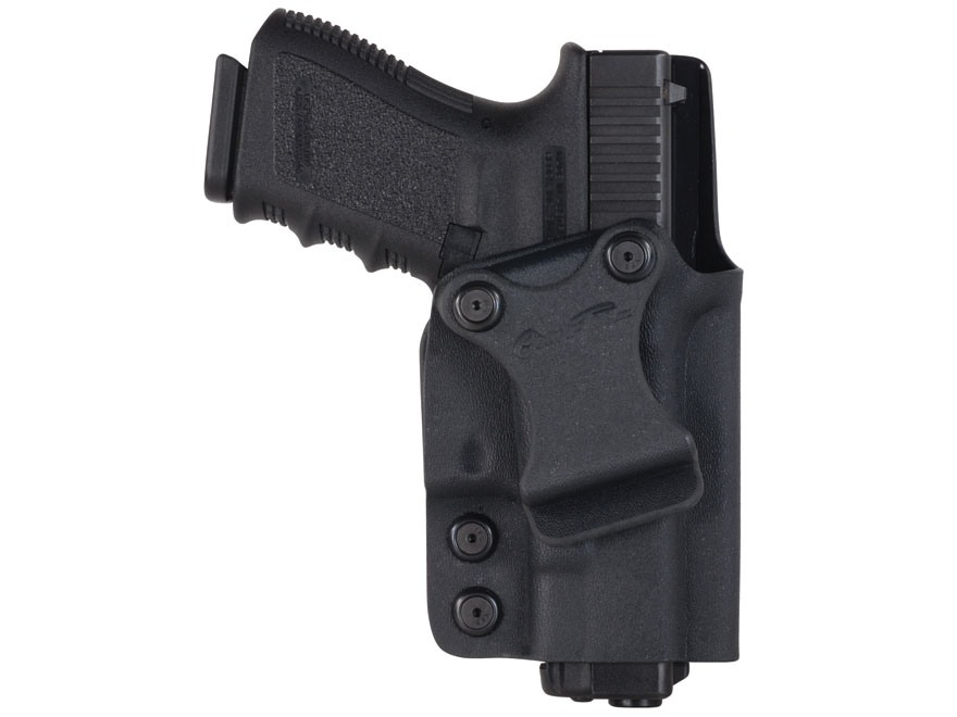 "Comp-Tac Infidel Inside the Waistband Holster with Infidel Belt Clip 1-1/2"" Right Hand Glock 17, 19, 22, 23, 26, 27, 33, 34, 35 Kydex Black"