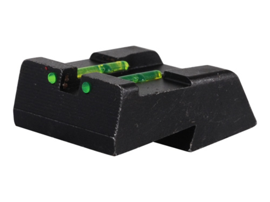 HIVIZ Rear Sight Springfield 1911 All Models with Fixed Rear Sight (Except GI and Mil Spec Models) Steel Fiber Optic Green