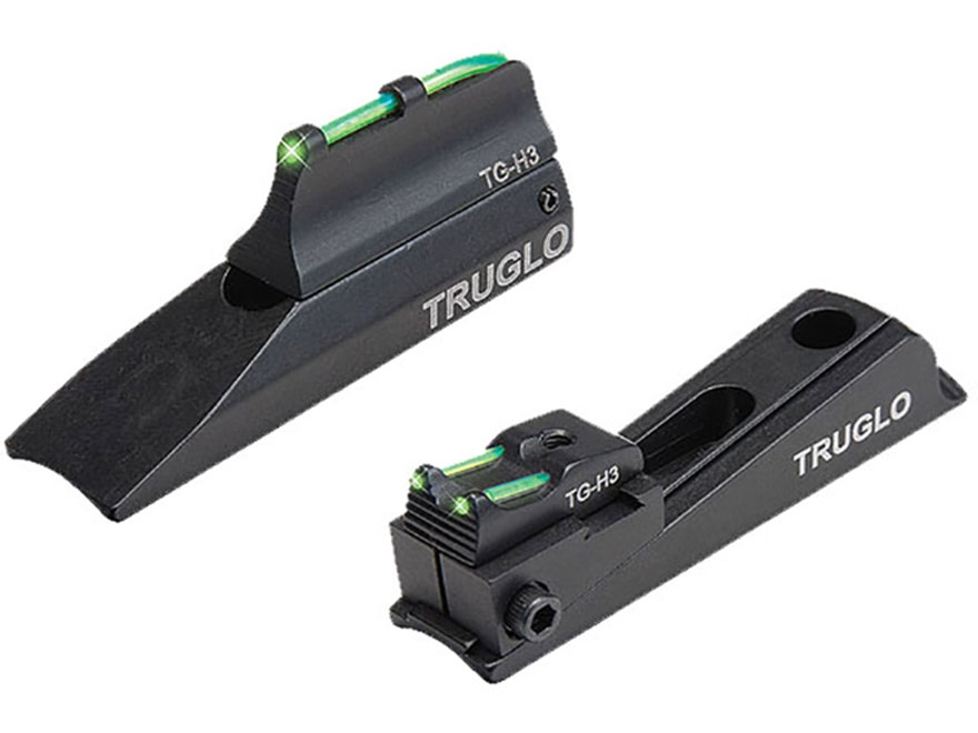TRUGLO TFO Muzzle Bright Xtreme Muzzleloader Universal Sight Set Tritium / Fiber Optic Standard Front, Notched Rear Green