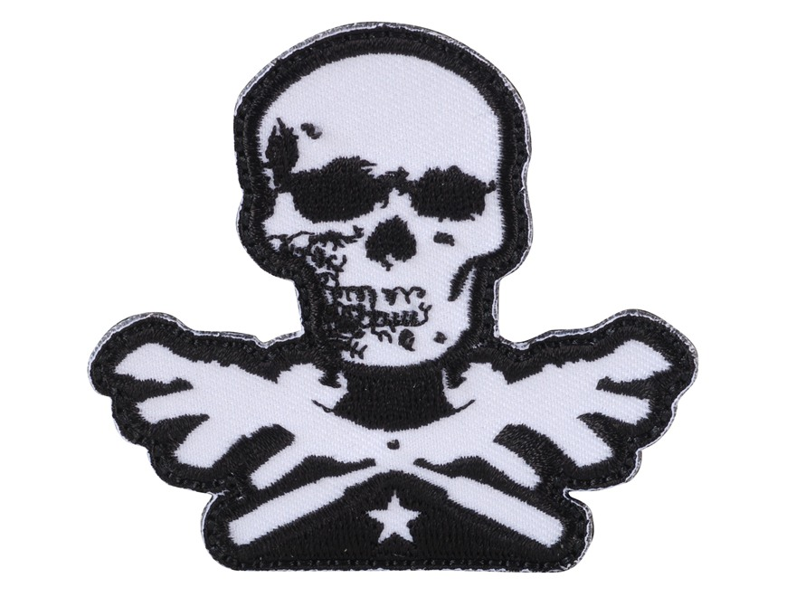 Advanced Armament Co (AAC) Die-Cut X-Guns Logo Patch Hook-&-Loop Fastener Black & White