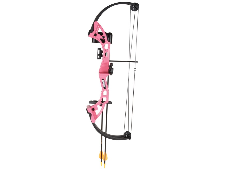 "Bear Archery Brave Youth Compound Bow Package Right Hand 15-20 lb 15-20"" Draw Length Pink"