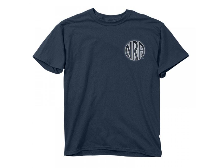 NRA Men's Eagle Gun Wing T-Shirt Short Sleeve Cotton Blue Dusk
