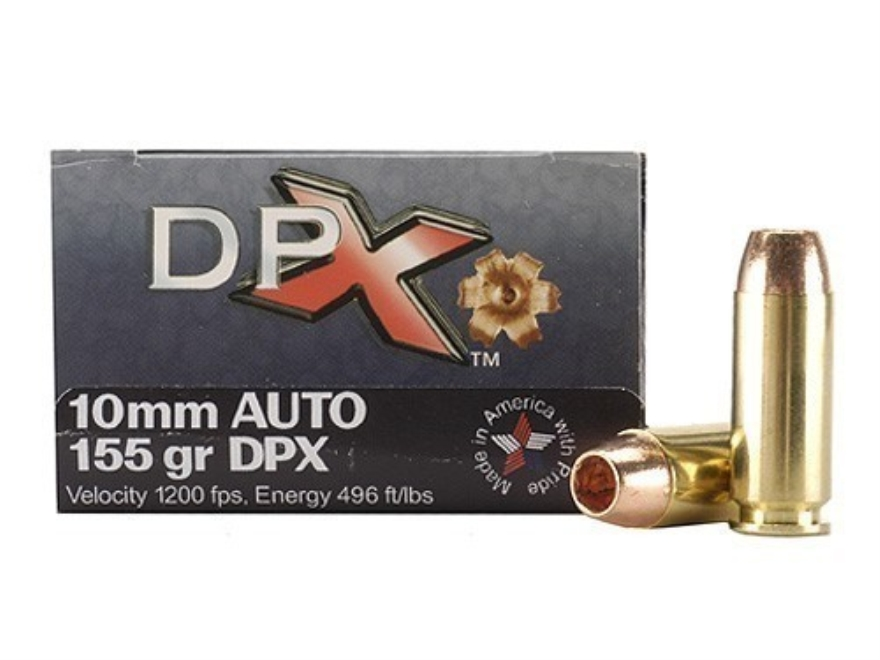 Cor-Bon DPX Ammunition 10mm Auto 155 Grain DPX Hollow Point Lead-Free Box of 20