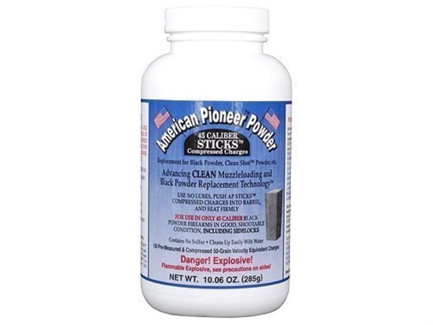 American Pioneer Black Powder Substitute 45 Caliber 50 Grain Sticks Package of 100