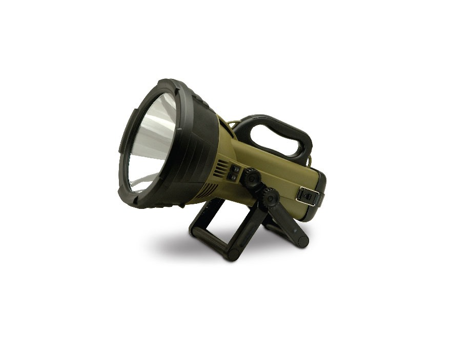 Cyclops Thor X Colossus Spotlight 18 Million Candle Power Halogen Bulb Rechargeable Polymer Green
