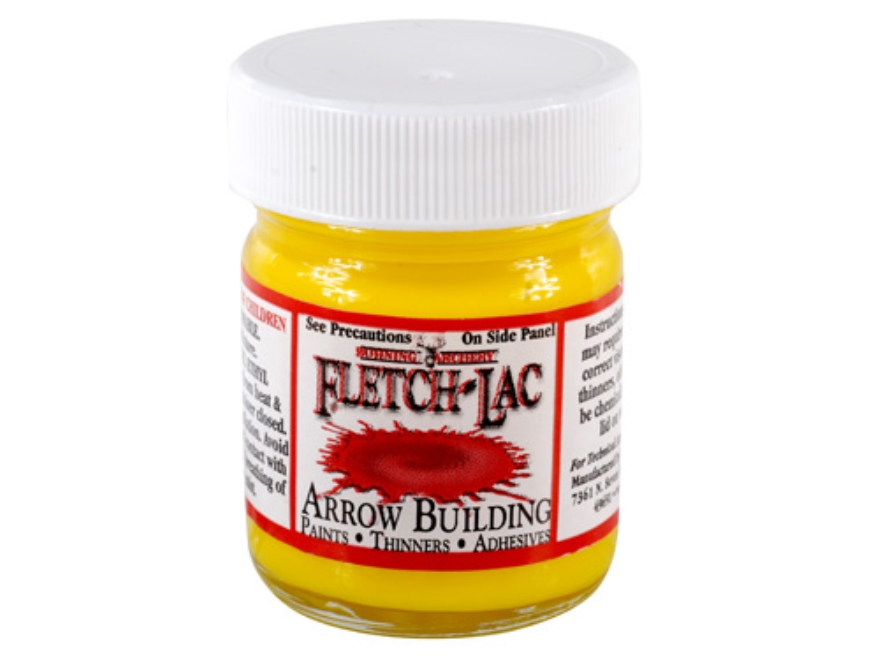 Bohning Fletch-Lac Arrow Cresting Lacquer Yellow 1 oz