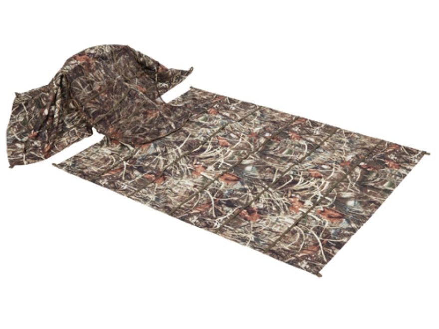 Banded Keyhole Layout Blind Polyester Realtree Max-4 Camo
