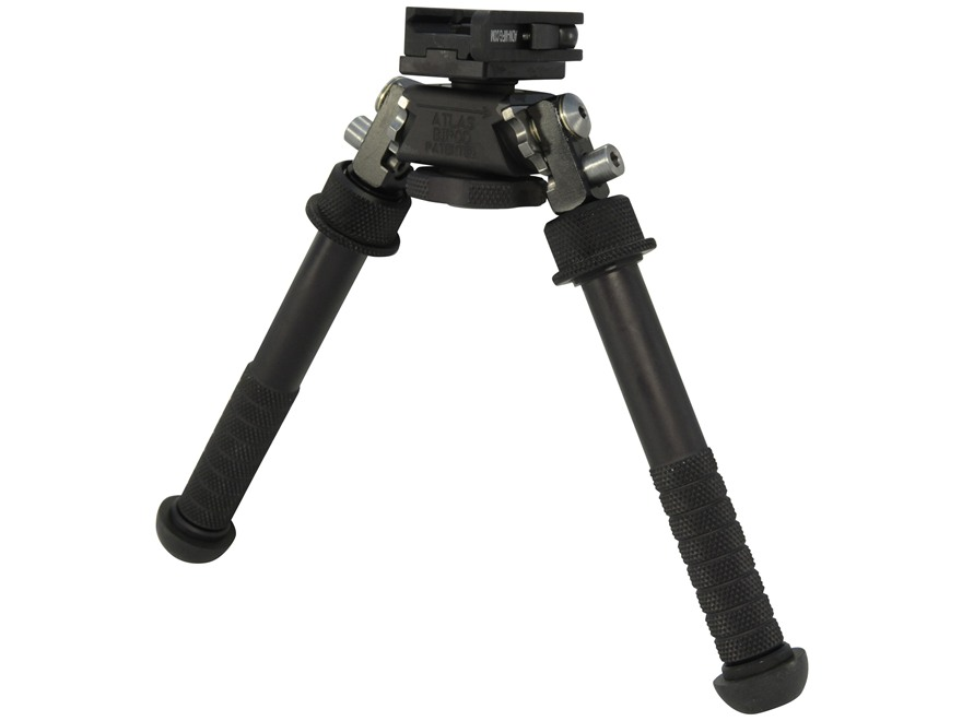 "Atlas BT10-LW17 Bipod 1913 Picatinny Rail Mount 4.75"" to 9"" Aluminum Black"
