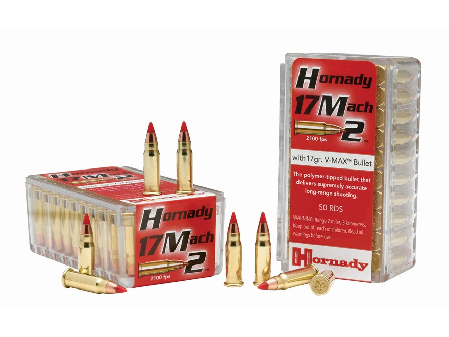 Hornady Varmint Express Ammunition 17 Hornady Mach 2 (HM2) 17 Grain V-Max Box of 50