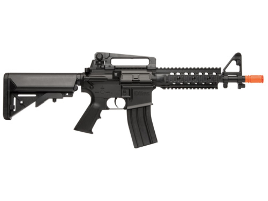 Crosman Airsoft Pulse DP4 6mm Airsoft Rifle Spring/Electric Select Fire Polymer Stock Black