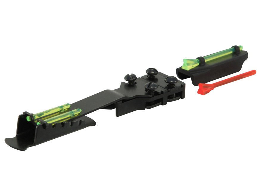 "HIVIZ Magnetic Base Front Sight Shotgun Remington 9/32"" Vent Rib Fiber Optic with 6 Interchangeable Lite Pipes"