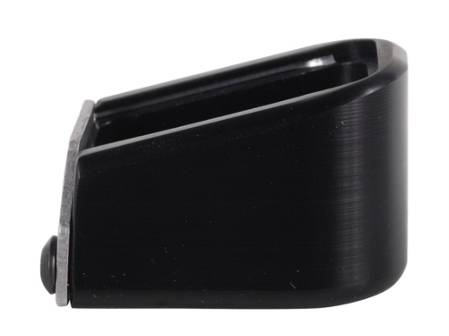 Taylor Freelance Extended Magazine Base Pad Springfield XDM +4 9mm Luger, +3 40 S&W Aluminum Black