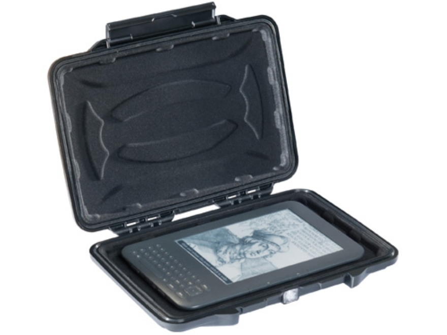 "Pelican 1055 HardBack Tablet Case with Kindle Fire Liner Insert and Carry Strap 7"" Polymer Black"