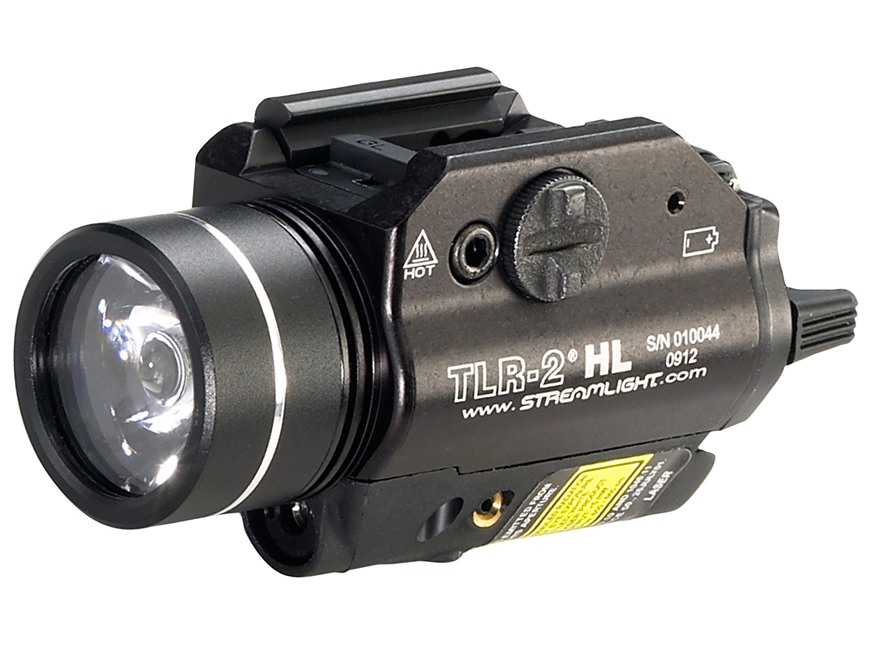 Streamlight TLR-2 HL Weaponlight LED with Laser and 2 CR123A Batteries Fits Picatinny or Glock-Style Rails Aluminum Matte