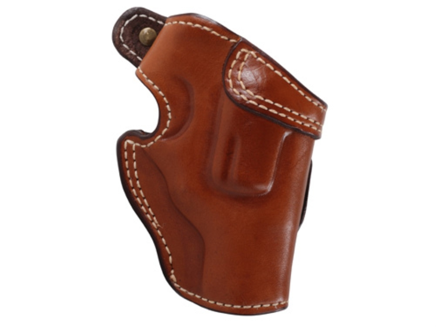 "Ross Leather Field Belt Holster Right Hand Ruger SP101 Hammerless 2.25"""" Barrel Leather Tan"