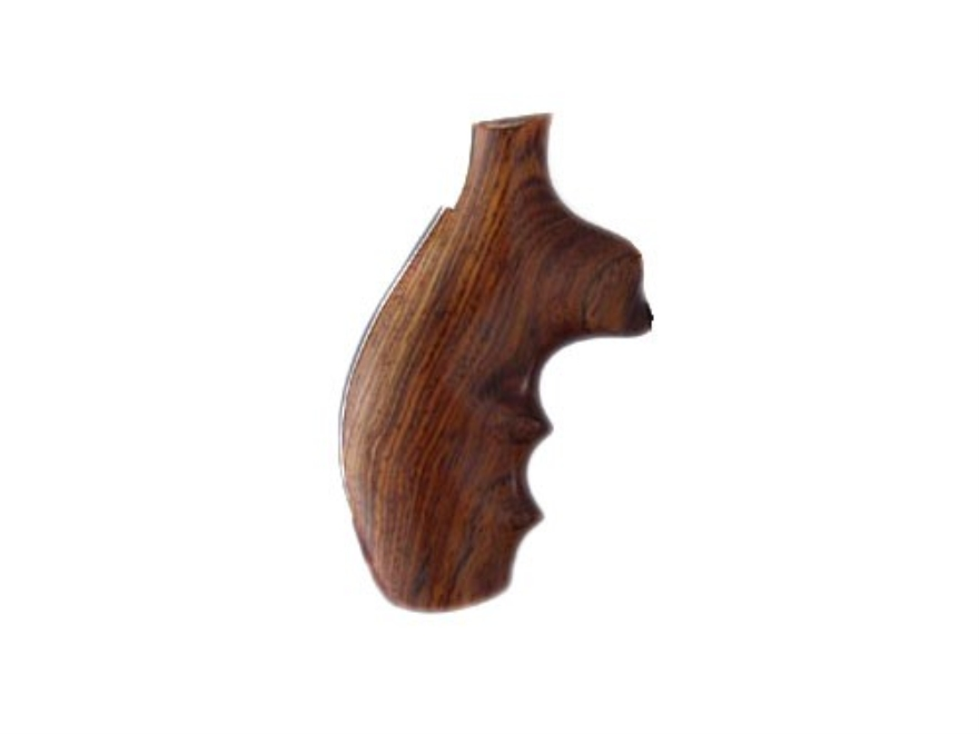 Hogue Fancy Hardwood Grips with Finger Grooves Taurus Medium and Large Frame Revolvers Round Butt