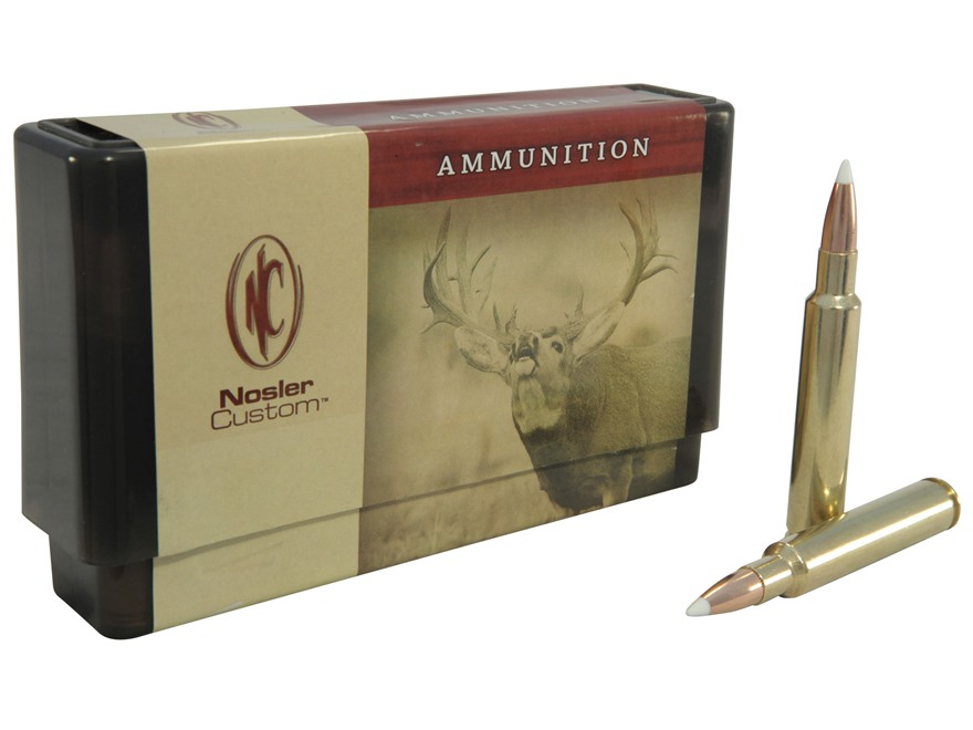 Nosler Custom Ammunition 280 Ackley Improved 140 Grain AccuBond Spitzer Box of 20